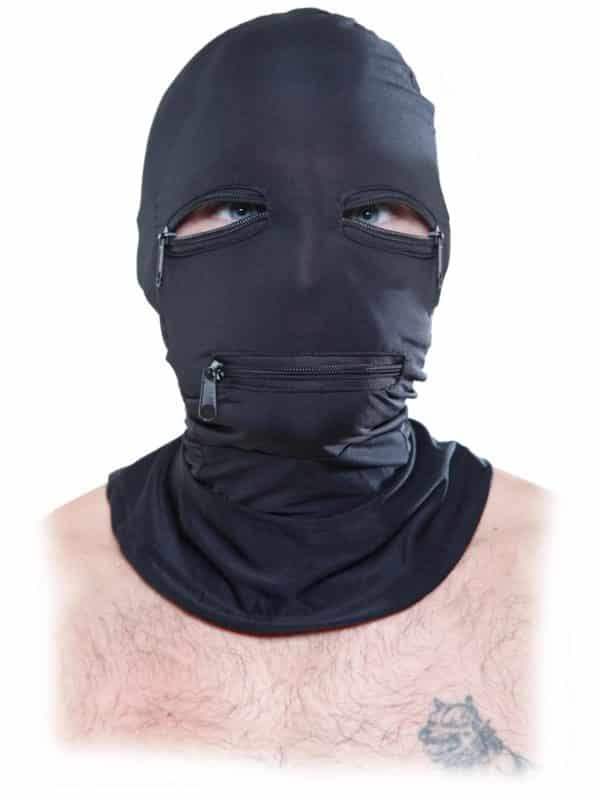Full face μάσκα προσώπου με φερμουάρ από την Pipdream