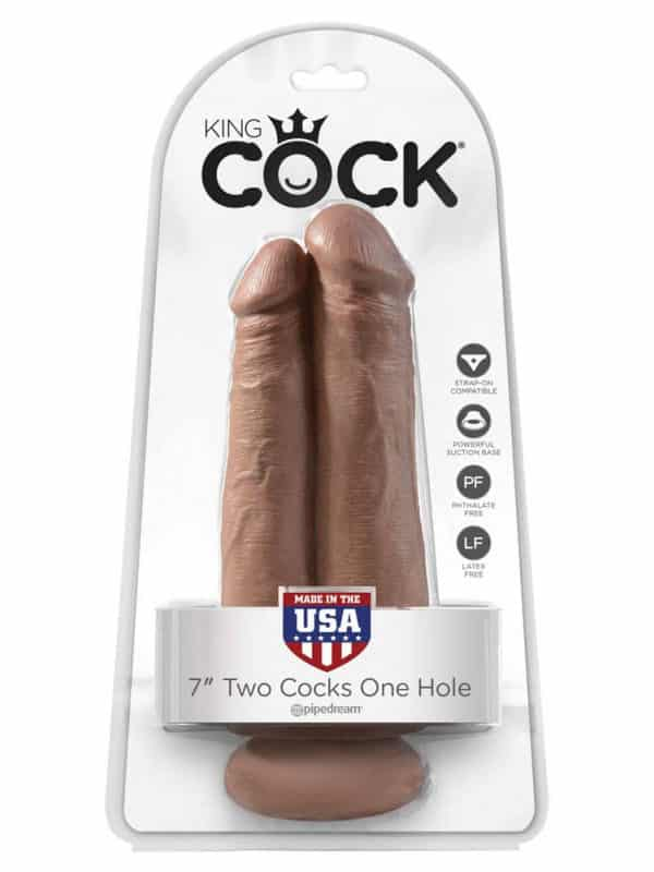 """King Cock 7"""" Two Cocks One Hole"""