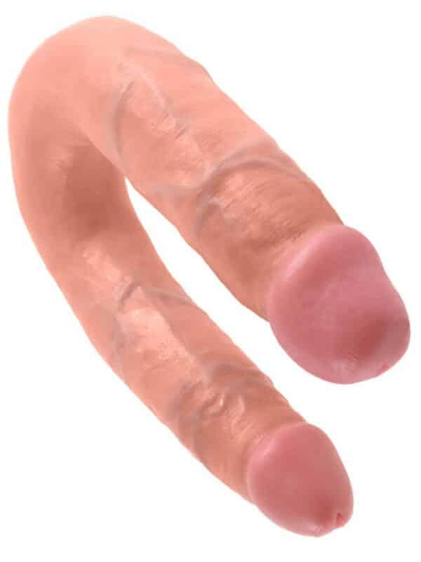 Διπλό ομοίωμα πέους με μικρό και μεγάλο κεφάλι