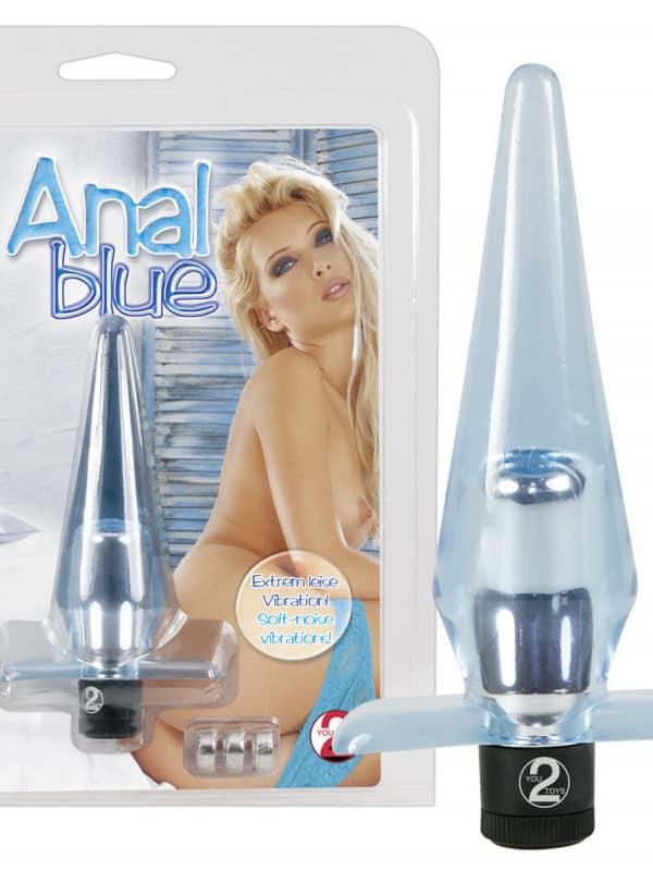 Anal Blue πρωκτική σφήνα με δόνηση σιλικόνη τζελ