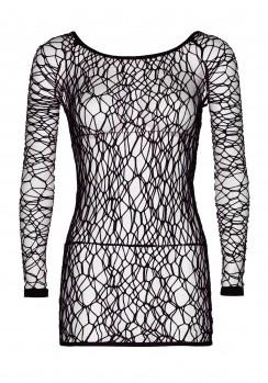 Μίνι sexy φόρεμα σε μαύρο χρώμα web net plus size