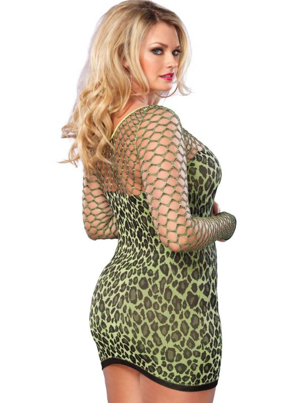Seamless Leopard Minidress leg avenue