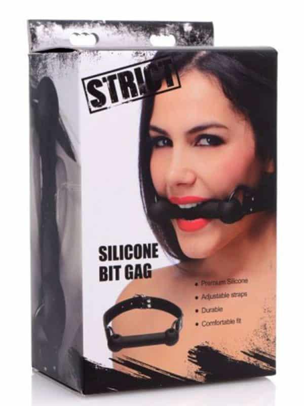 Strict silicone bit gag φίμωτρο χαλινάρι