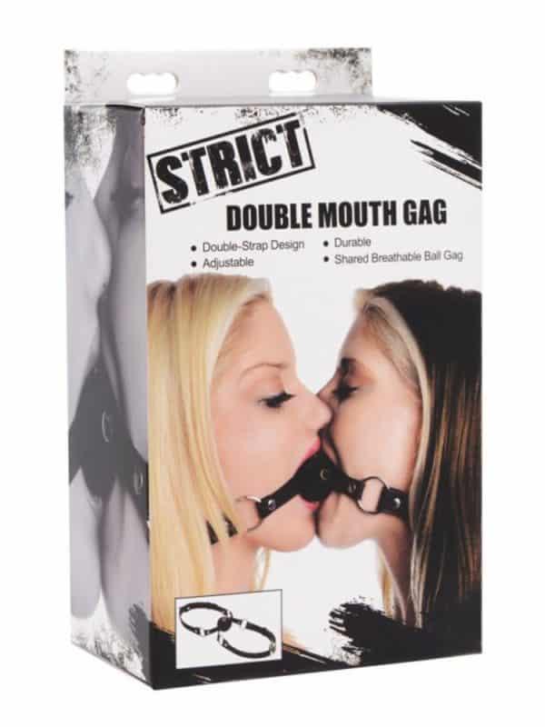 Double mouth gag strict διπλό φίμωτρο