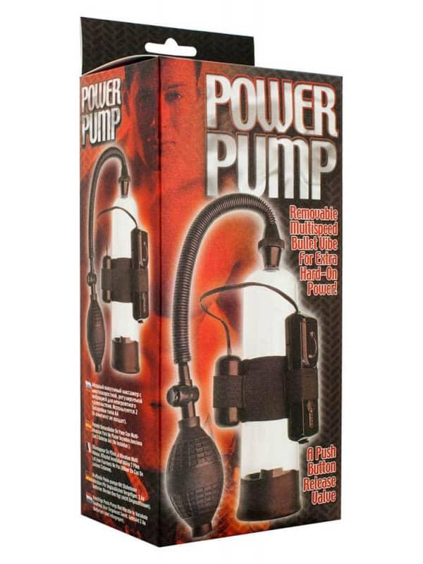 Μεγεθυντής πέους με δόνηση Power Pump