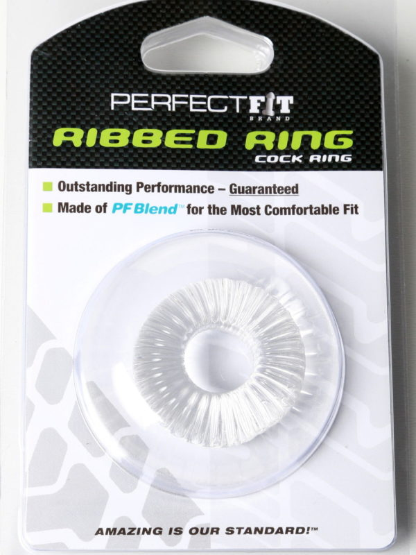 Perfect fit ribbed ring cock ring