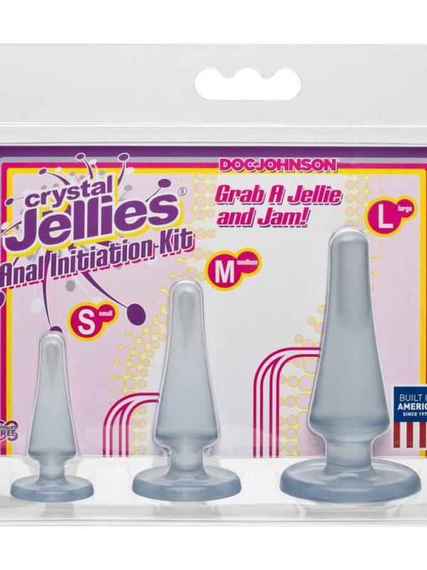Σετ με πρωκτικές σφήνες Crystal Jellies Anal Initiation Kit