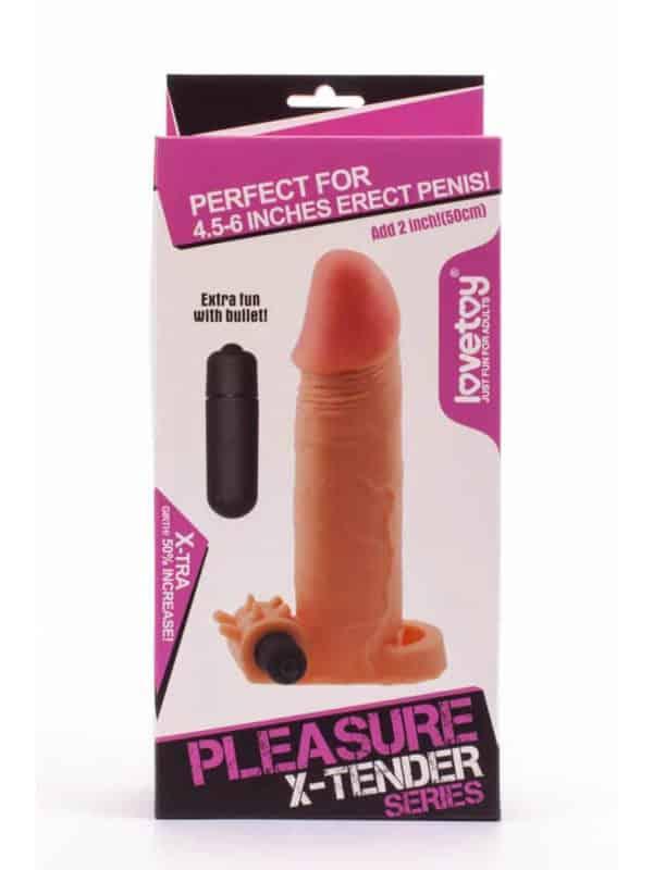 Pleasure X-Tender Vibrating Penis Sleeve 2