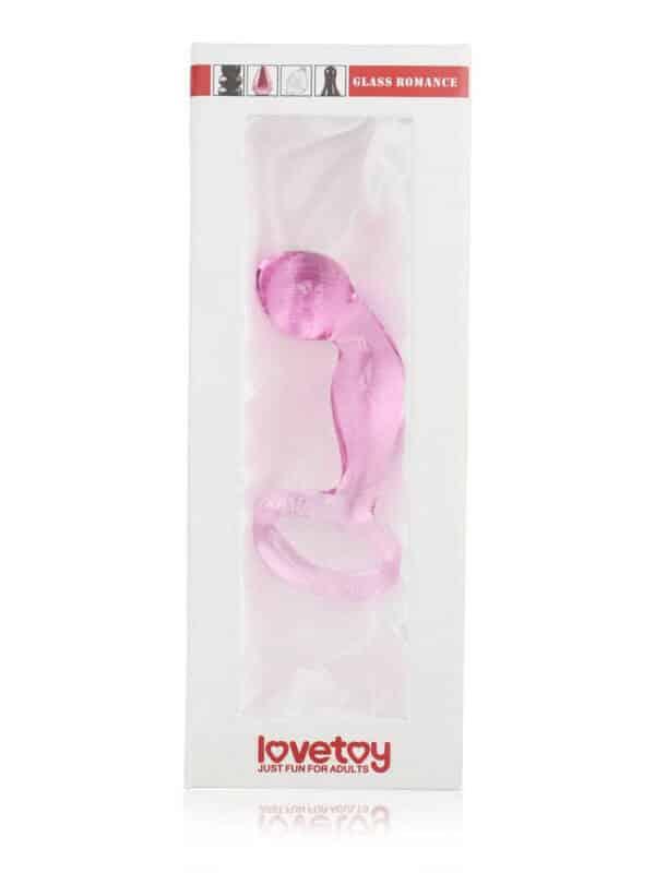 Dong γυάλινο για G spot με λαβή Love toy