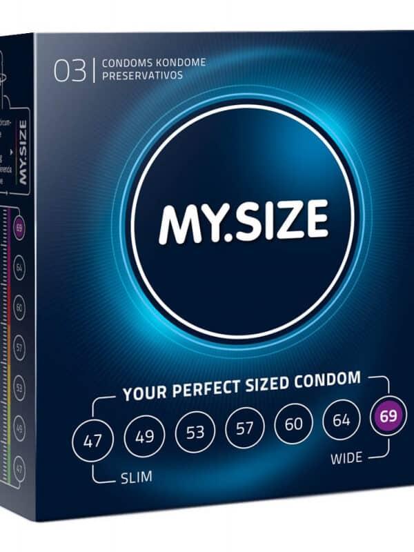 Προφυλακτικό μέγεθος 69 My Size 69 (3 Kondome)