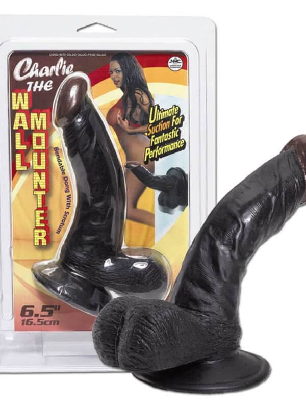 Πολύ αληθινό μαύρο πέος με βεντούζα Dildo