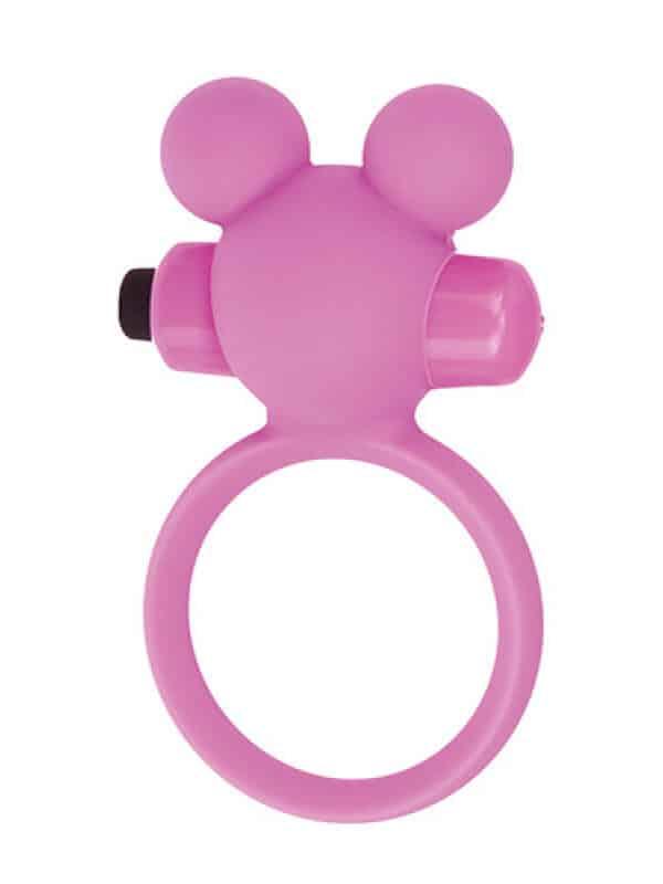 Teddy cockring silicone pink δαχτυλίδι πέους