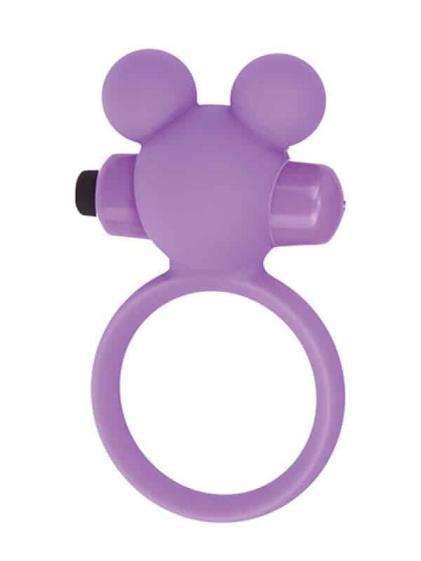 Teddy cockring silicone purple δαχτυλίδι με δόνηση