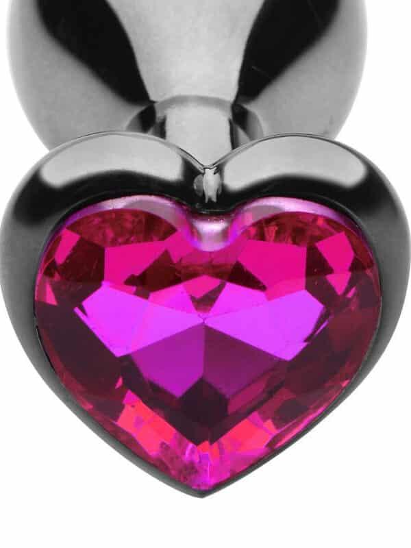 Σφήνα μεταλλική μεγάλη με διαμάντι καρδιά