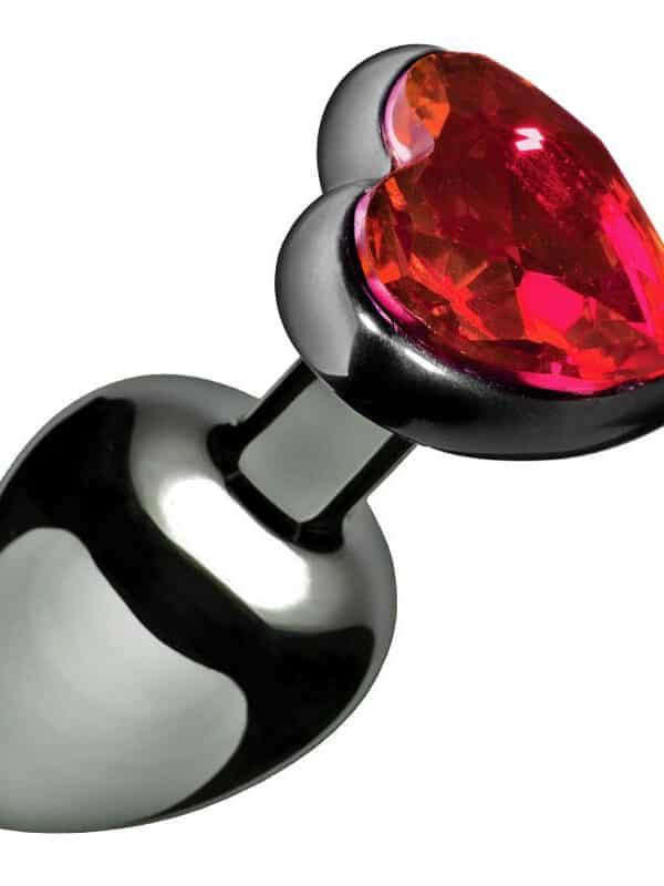 Σφήνα με διαμάντι καρδιά μεταλλική για πρωκτό