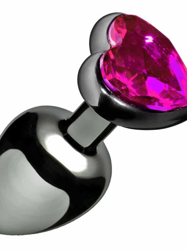 Heart jewel plug medium σφήνα με διαμάντι