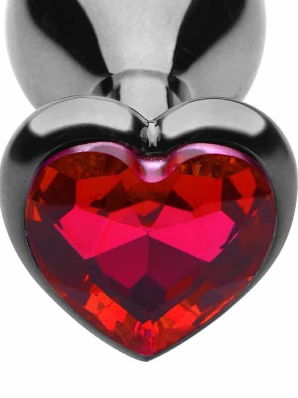 Σφήνα με ρουμπίνι για κώλο σε σχήμα καρδιά