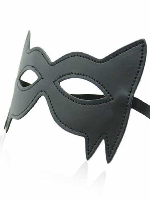 Spikes mask black μάσκα ματιών δερμάτινη