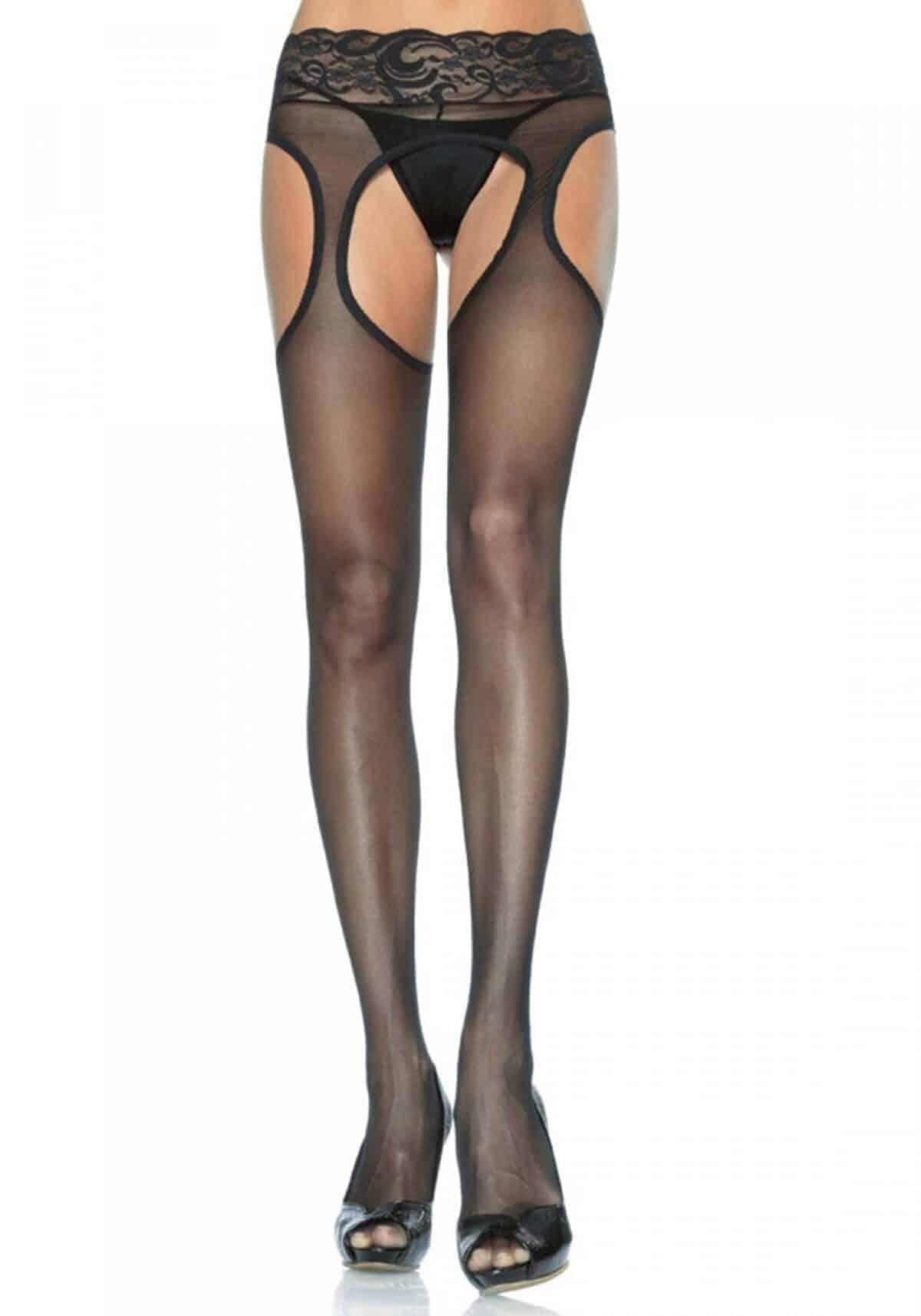 Pluse size Sheer Suspender Hose Leg Avenue