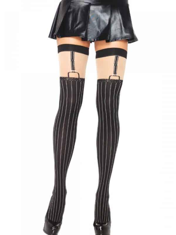Pinstriped Thigh Highs Leg Avenue κάλτσα