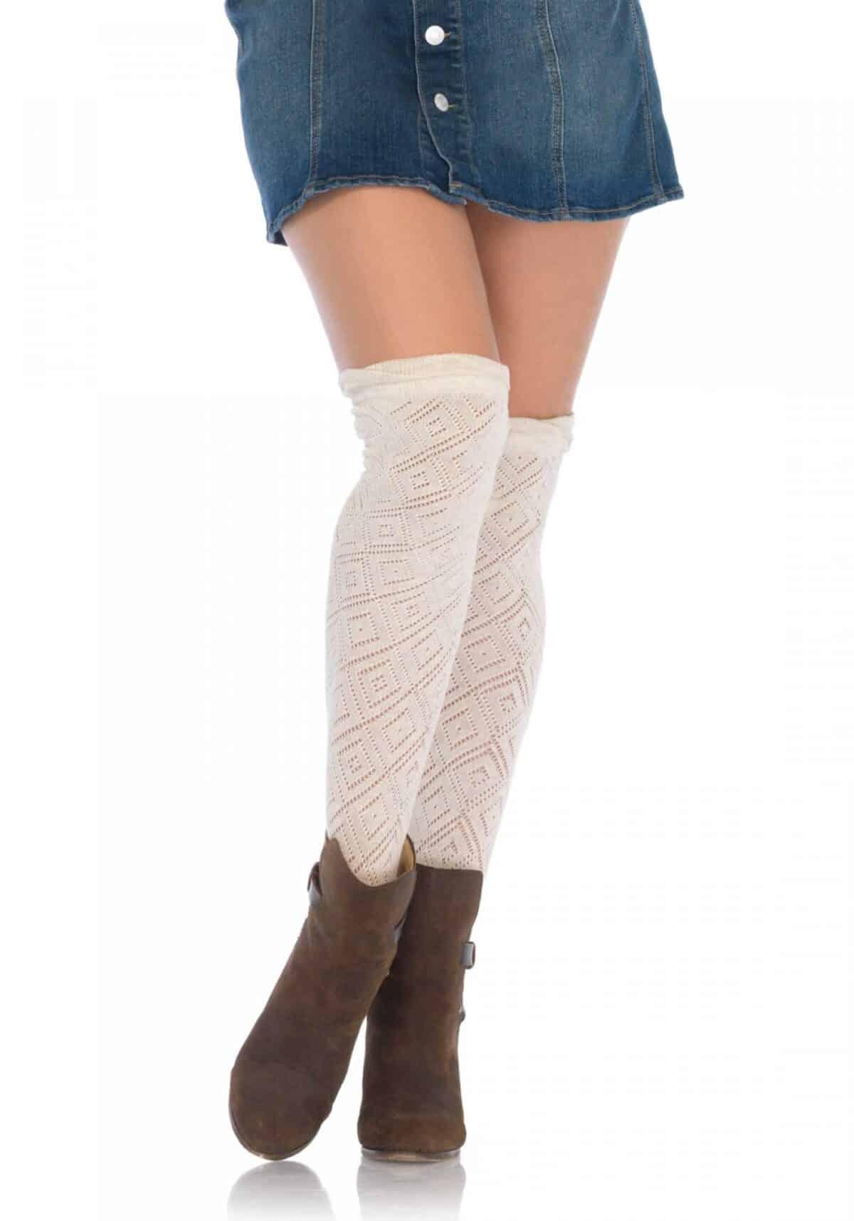 Crocheted over the knee socks κάλτσα πλεκτή