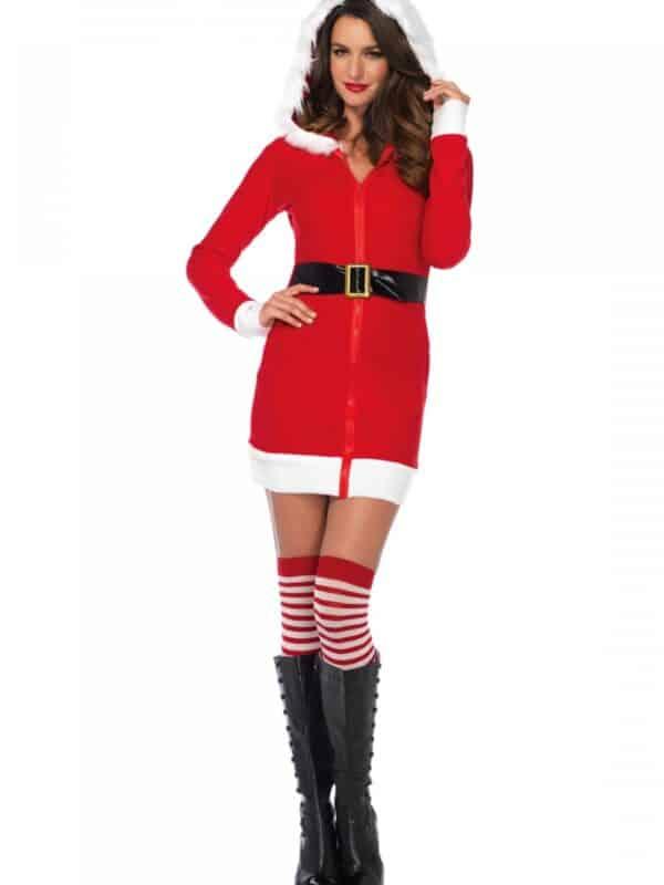 Cozy Santa στολή γυναίκας Άγιου Βασίλη