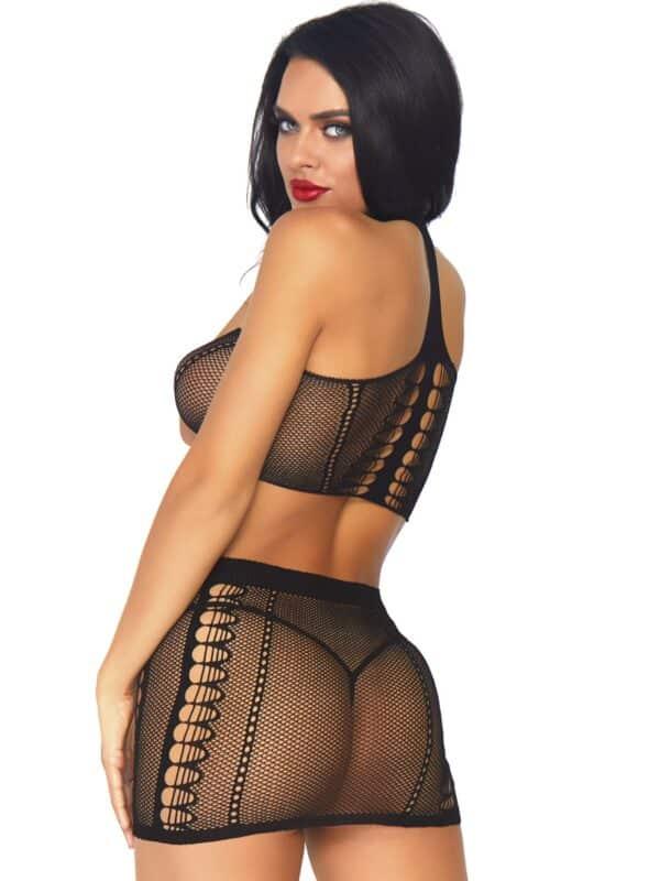 Bandeau top and mini skirt Leg Avenue
