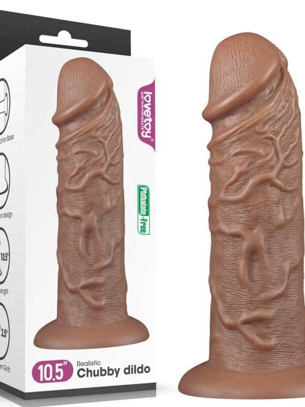 Realistic Chubby Dildo Brown χοντρό ομοίωμα πέους