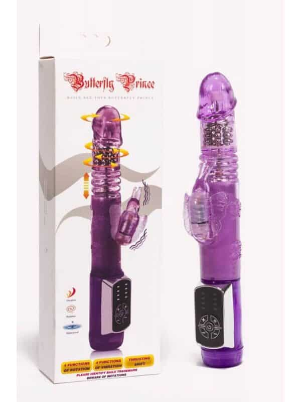 Butterfly Prince Rabbit Vibrator Purple