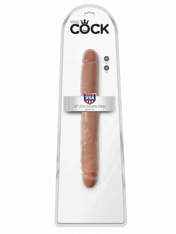 Slim Double Dildo King Cock 12 inch