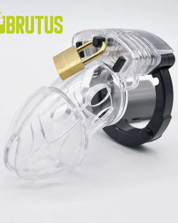 BRUTUS Alpha Cage Chastity Cage Clear