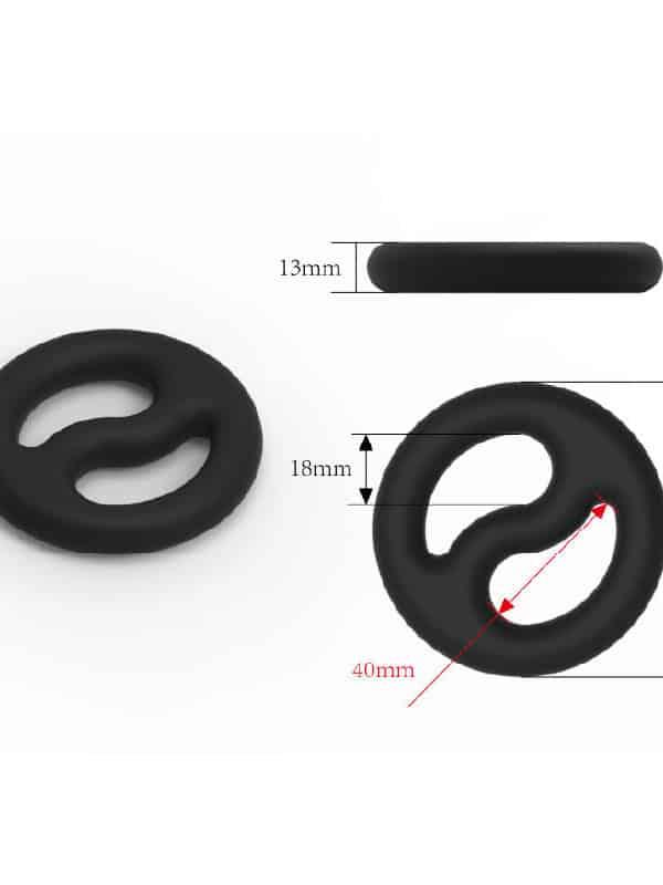 Ying and Yang δαχτυλίδι πέους σιλικόνης
