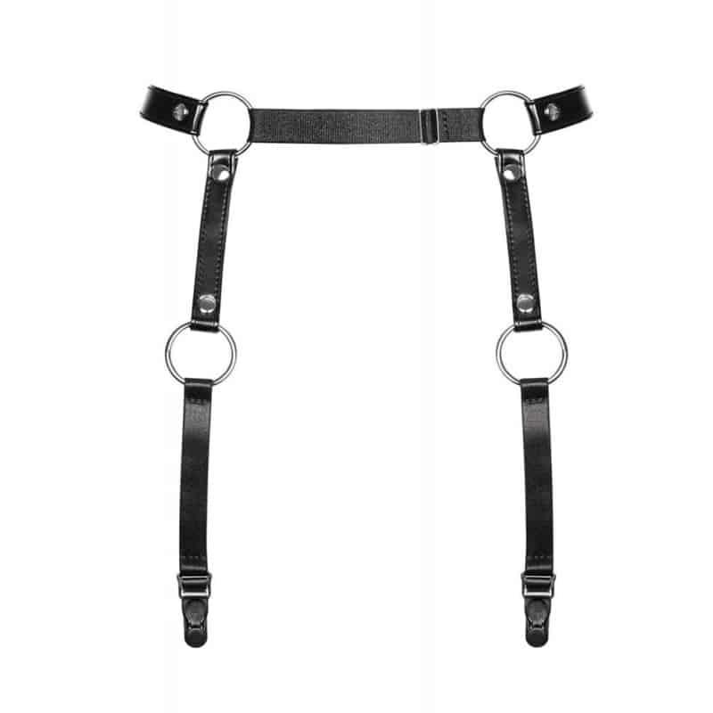A741 garter belt black ζώνη χαρνες μέσης